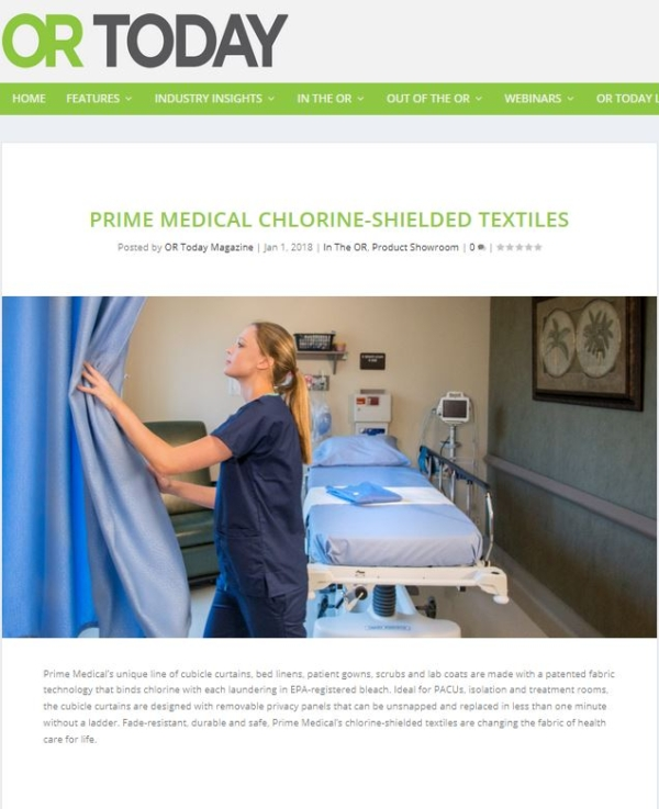 OR Today Magazine Features Chlorine-Shielded Textiles