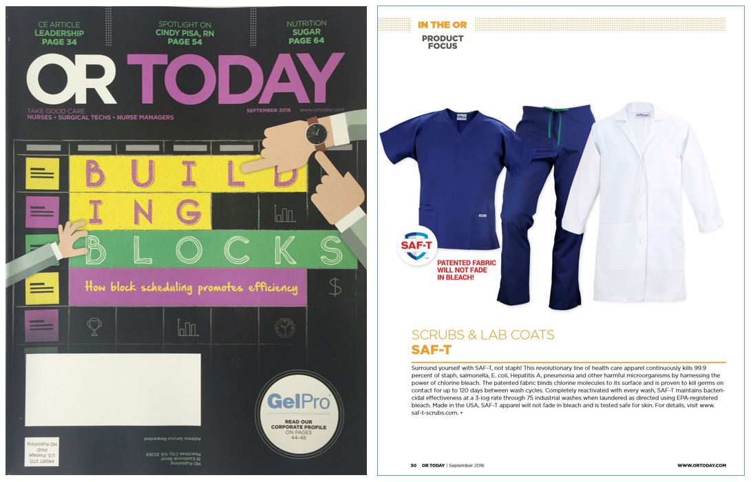 SAF-T Scrubs and Lab Coats Featured in OR Today Magazine